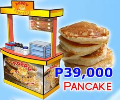 Mini Pancakes. The preparation for this food concept is easy and not really a trade secret, anybody with a pancake maker can do it. The taste and quality of products is the same if not better with the more expensive foodcart franchise. Products: 3-inch Mini Pancake (with sugar, sweetened, choco, strawberry toppings); Other toppings preferred by client; Red Iced Tea, other drinks preferred by client; SRP: P8-17/serving