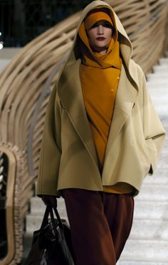 Also from Hermes Fall 2011. spice colours, many hoods, the Other.