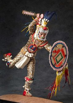Aztec Leopard Warrior V.2 Mr. Stuart rarely created additional Figures of the same subject. However, the Aztec Leopard Warrior version 2 was created after the first Figure was purchased by a private collector. It is easy to image the two Aztec Leopard warriors fighting side by side in frequent battles with neighboring tribes and city states.- Peoples of the Movement West by George Stuart