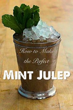 The absolute best, and easy, Mint Julep cocktail recipe.