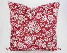 Blossom Pillow in Poppy from Southern Sisters Home