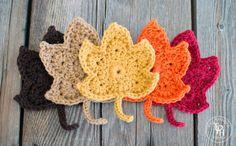createforless:  Fall Leaves Free Crochet Pattern via The Painted...