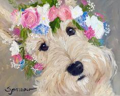 CANVAS PRINT Scottishh Terrier Scottie Dog by HangingtheMoonShelby
