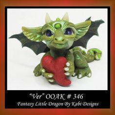VER Fantasy Little Creature Dragon made of polymer clay by Kabi Designs, Inspired in Christie Friesen Dragon Book * The #FriesenProject Group