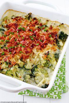 Havarti, Bacon & Fried Onion Broccoli Gratin - you'll never look at broccoli the same way again! {cinnamonspiceandeverythingnice.com}