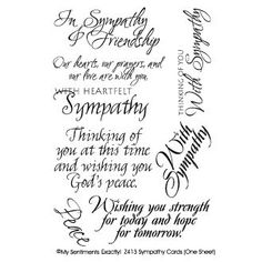 Sympathy messages what to write in a sympathy card pinterest for all words you want to clearly stamp clear rubber stamps are economical easy to position and store compactly this package contains sympathy eight m4hsunfo