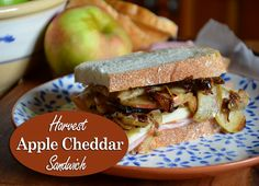 Apple Cheddar Sandwich made with smokehouse ham, fresh fall apples ...