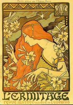 Risultati immagini per Alphonse Mucha Art Nouveau by Roy Guadalupe Art And Illustration, Illustrations, Motifs Art Nouveau, Art Nouveau Design, Art Vintage, Vintage Posters, Art Posters, Vintage Bohemian, Vintage Images
