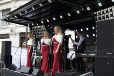 Elle & The Pocket Belles brought festive glamour to our Lights event. Christmas Lights, Festive, Bring It On, Glamour, Gym, Pocket, Concert, Street, Christmas House Lights