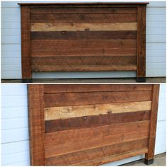 Hand built Barn Wood Headboard. King beds, queen beds and twins from Vibe Reclaimed Wood Works in Canby, Oregon