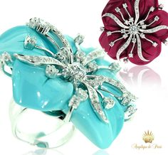 There is a reason that this is called the  FABULOUS FLOWER Ring  Angelique de Paris Turquoise Ring