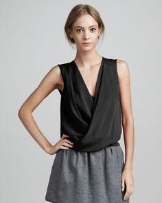 New Issie Sleeveless Wrap Top by Diane von Furstenberg at Bergdorf Goodman.