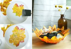 How to Make Autumn Leaf Bowl - DIY & Crafts - Handimania
