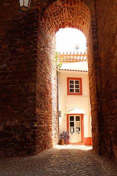 Portugal, Algarve, Silves Portugal, Algarve, Entry Ways, Medieval Town, Facade, Paradise, Wanderlust, Around The Worlds, Windows