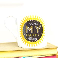 What a fabulous mug for your favourite person - buy it here http://www.culturevulturedirect.co.uk/you-are-my-happy-ending-mug-prod55412/