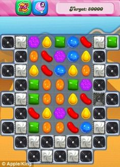 Sweet-swapping game Candy Crush Saga, pictured, was the most popular free app on both iPhones and iPads during 2013