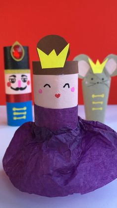 Awww the final day for our Nutcracker trio here on Red Ted Art make a TP Roll Ballerina as the sugar plum fairy (you can add some paper wings too). One for all ballet fans this Christmas crafting. Take a quick peak at the supplies list now. Paper Towel Roll Crafts, Toilet Paper Roll Crafts, Paper Crafts For Kids, Easy Crafts For Kids, Toddler Crafts, Preschool Crafts, Diy For Kids, Fun Crafts, Arts And Crafts