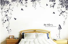 Wandtattoo - Wandtattoo Tattoos Rebe mit Vogelkäfig - ein Designerstück von dreamkidsdecal bei DaWanda