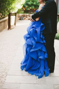 Something Blue Garden Wedding| #blue #wedding #blueweddings