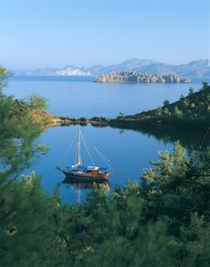 """A private yacht cruise along the crystal clear waters of the Aegean Sea or the Mediterranean is a """"dreamlike experience"""", onboard one of our Turkish wooden yachts named """"GULET""""."""