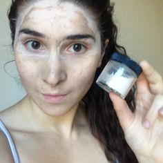 Testing out our Serenity Scrub! It can be used as a Face Wash or Mask