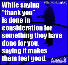 #NetworkingRx: Who would you like to thank?