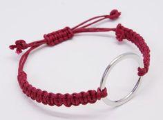 Macrame Armband bordeaux DIY Anleitung fertig 2
