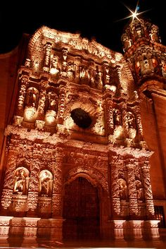 Catedral - Zacatecas - So Beautiful!  Story goes that a prisoner who was an artist created this because he would rather be outside working on this then locked up.