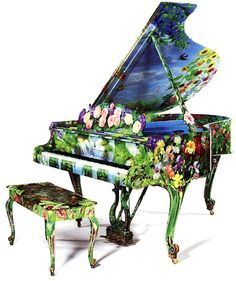 Hand Painted Steinway Piano by Timothy Martin #painted #furniture
