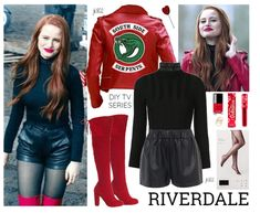 Cheryl Bombshell Blossom the Queen of Riverdale. Discover outfit ideas for weekend made with the shoplook outfit maker. How to wear ideas for Inez Long Sleeve Turtleneck and Tissue Leather Pull On Tv Show Outfits, Cheer Outfits, Crop Top Outfits, Mode Outfits, Fashion Outfits, Cheryl Blossom Riverdale, Riverdale Cheryl, Bad Girl Outfits, Outfits For Teens