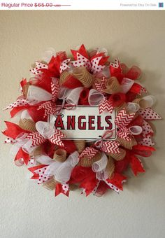 Angels Baseball Wreath by AnyOccasionWillDo on Etsy