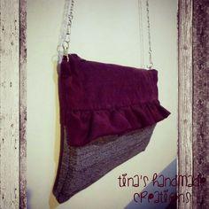 handmade suede bag