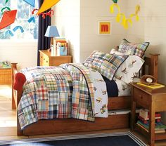 Madras Quilted Bedding | Pottery Barn Kids
