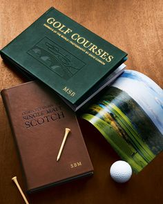 Golf Courses, Leather-Bound Collector