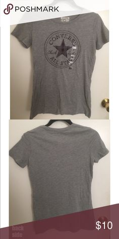 CONVERSE All Star T-Shirt (Gray) The design on the tee has a flannel  pattern. Never worn a57f7779ed