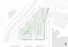 Ground Floor Plan - Housing, architecture visualization, Housing design