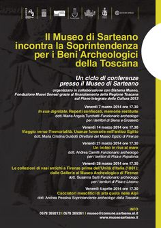 """In his own dignity. Reperts confiscated, memories returned,"" the 07 March begin The Sarteano's Conferences! http://www.museisenesi.org/eventi/ciclo-di-conferenze-al-museo-civico-archeologico-d"