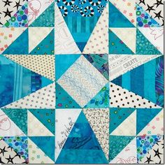"""""""Straights of Mackinac"""" block by Bonnie Hunter in Quiltmaker's 100 Blocks mag. vol.#14"""