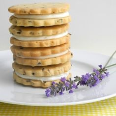 Lemon Filled Lavender Shortbread Cookies. #Foodies