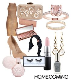 """""""Homecoming"""" by sage-baker-1 on Polyvore featuring Hervé Léger, Lipsy, Kate Spade, Ippolita, MAC Cosmetics, Urban Decay and Huda Beauty"""