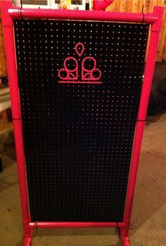 Peg board and PVC pipe display. No Directions attached, should be nice and light…