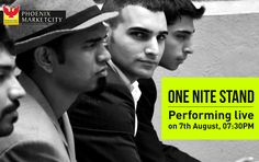 Let your hands go high and let the music set you free, One Nite Stand, Indian dance rock band performing live at Phoenix Marketcity Bangalore, on 7th Aug 2015, 7:30 PM.