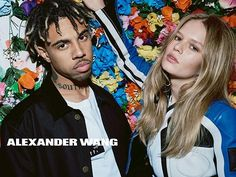 In this picture: Travis Scott (Entertainer), Anna Ewers Credits for this picture: Alexander Wang (Designer) , Steven Klein (Photographer) , Pascal Dangin (Creative Director) , Karl Templer (Fashion Editor/Stylist) , Anthony Turner (Hair Stylist) , Jimmy Paul (Hair Stylist) , Polly Osmond (Makeup Artist) , Gina Edwards (Manicurist)