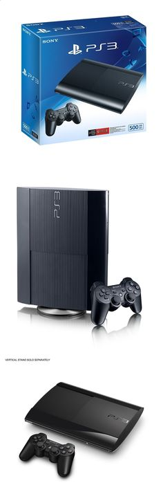 Other Consumer Electronic Lots: Sony Playstation 3 Super Slim 500Gb Charcoal Black Console Ps3 Brand New BUY IT NOW ONLY: $219.0