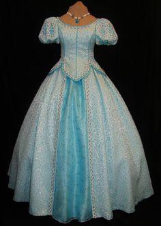 Adult Little Mermaid Aqua Ball Gown Custom Costume - Neverbug Creations