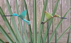 Hummingbirds made from pvc pipe