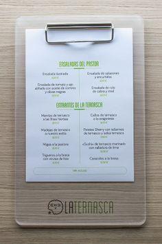 Carta para el Restaurante la Ternasca