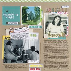 Ideas for Scrapbook Pages About An Important Teacher in  Your Life | Marie-Pierre Capistran | Get It Scrapped
