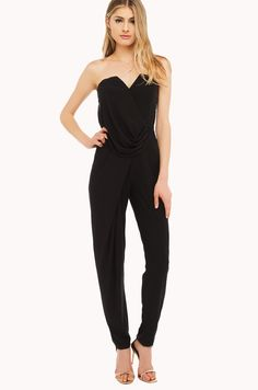 jumpsuit strapless jumpsuit fancy event wedding guest jumpsuit akira