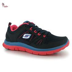 Skechers Flex Appeal Spring Fever Femme Chaussures de Sport Training Chaussures de sport Baskets - Bleu - Blau1, 36 - Chaussures skechers (*Partner-Link)